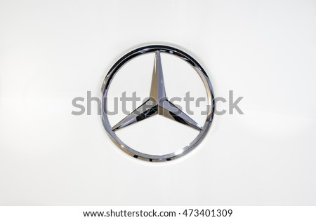 MILTON KEYNES, ENGLAND - AUGUST 23,2016. Mercedes Benz Sign Close Up. Founded in 1926 is a German luxury automobile manufacturer
