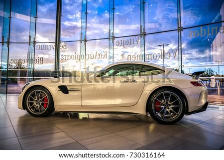 MILTON KEYNES,UK OCTOBER 6,2017: The Mercedes AMG GT R