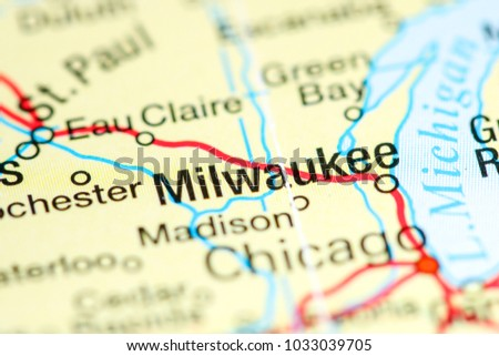 milwaukee wisconsin usa on a map
