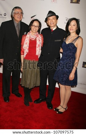 Mimi Lesseos and James Hong   at the Coalition of Asian Pacifics in Entertainment Gala. Cafe La Boheme, West Hollywood, CA. 12-02-08