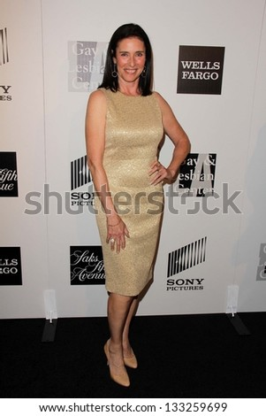 Mimi Rogers at the L.A. Gay And Lesbian Center Hosts 'An Evening' honoring Amy Pascal and Ralph Ricci, Beverly Wilshire, Beverly Hills, CA 03-21-13 - stock photo