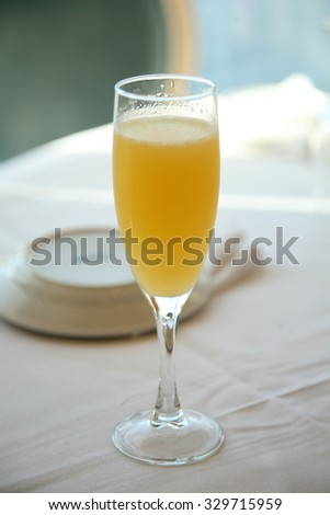 mimosa cocktail  - stock photo