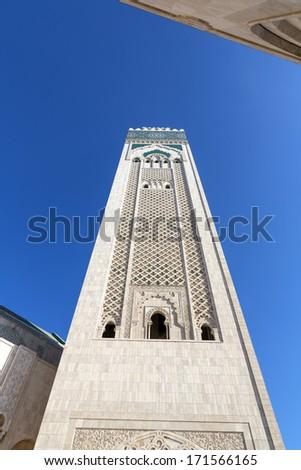 Minaret Mosque Hassan II in Casablanca, Morocco - stock photo