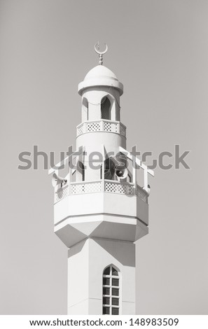Minaret of a mosque in Dubai (near the fish market)