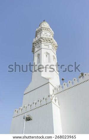 Minaret of Quba' Mosque  - stock photo