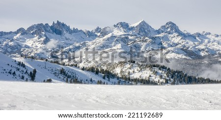 Minaret range in Mammoth Lakes, CA