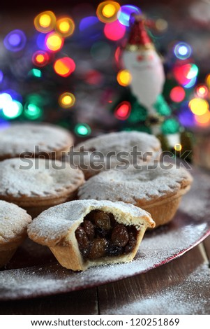 mince pie - stock photo
