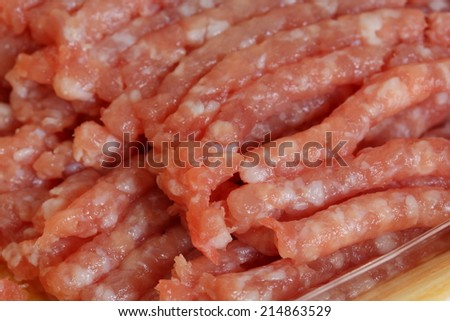 Minced Meat close - stock photo