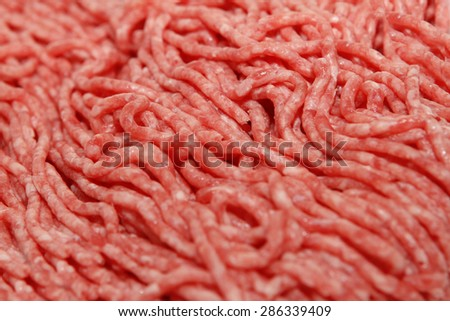 Minced meat (ground beef) close-up