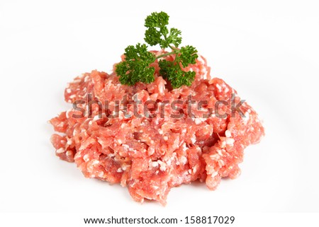 minced pork - stock photo