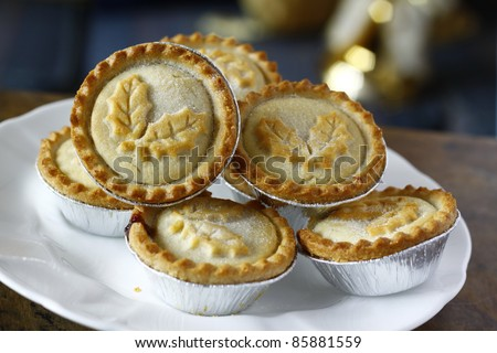 mincepies a treat at christmas time - stock photo