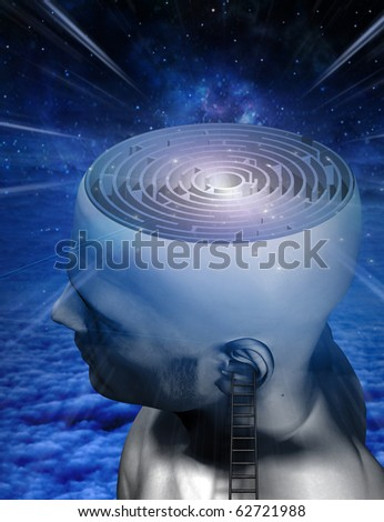 Mind Climb - stock photo