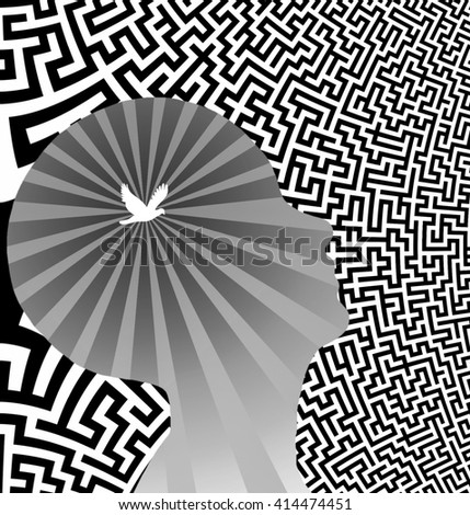 Mind free puzzling - stock photo
