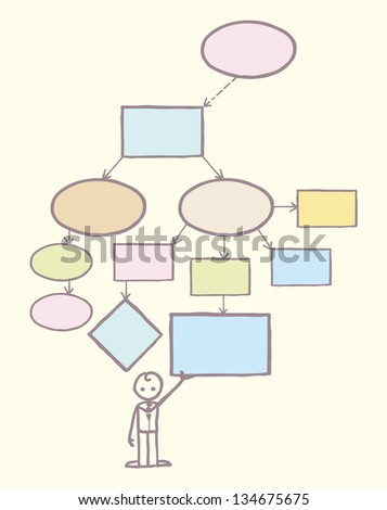 Mind map template raster - stock photo