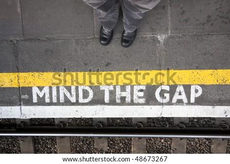 Mind the gap - stock photo