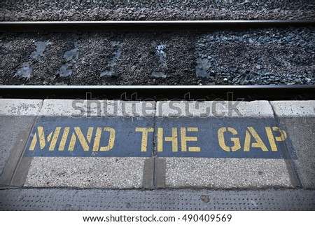 Mind the Gap on a Train Station Platform
