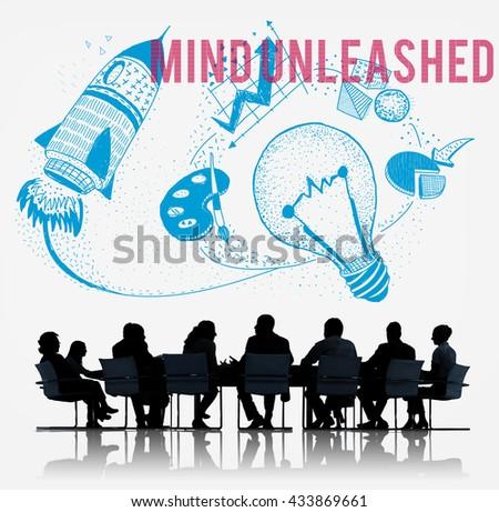 Mind Unleashed Ideas Creativity Imagination Concept - stock photo
