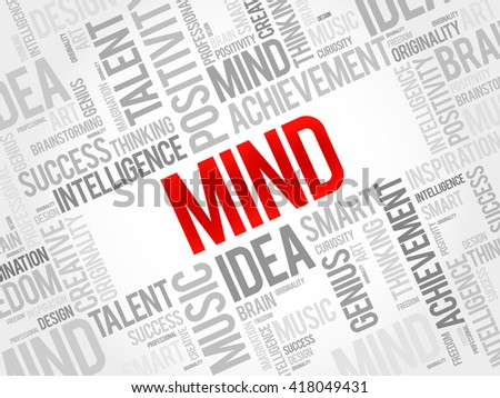 Mind word cloud, business concept - stock photo