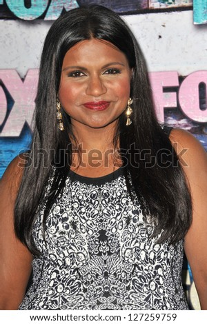 Mindy Kaling at the Fox Summer 2012 All-Star Party in West Hollywood. July 24, 2012  Los Angeles, CA Picture: Paul Smith