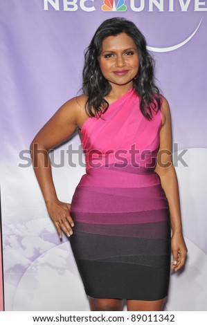 "Mindy Kaling - star of ""The Office"" - at NBC Universal TV Summer Press Tour Party in Beverly Hills.  July 30, 2010  Los Angeles, CA Picture: Paul Smith / Featureflash - stock photo"