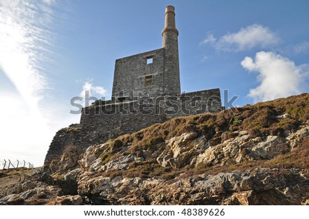 mine chimney - stock photo