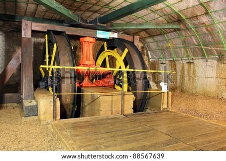 Mine machine - stock photo
