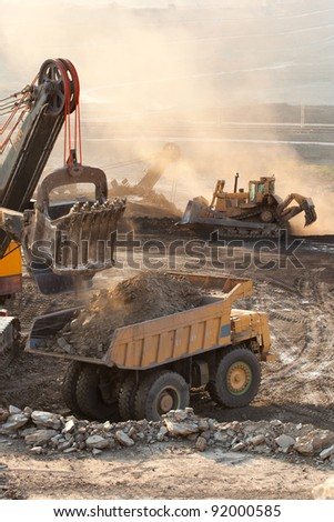 Mine Mae Moh coal-fired power plant in Thailand. - stock photo
