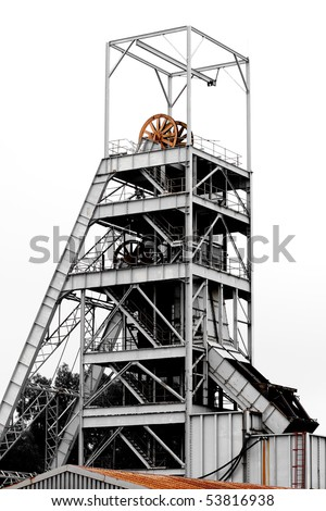 Mine Shaft on an old gold mine near Johannesburg - stock photo