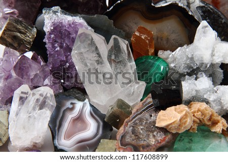 mineral background - stock photo