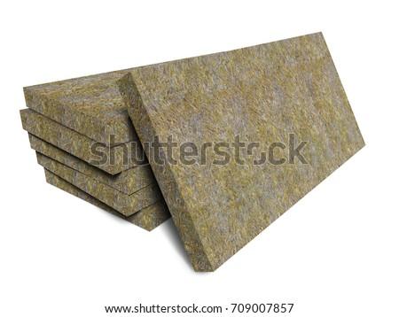 mineral basalt rock wool mats stackのイラスト素材 709007857