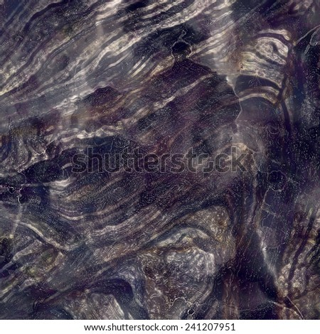 Mineral,black marble with nacre