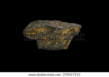 mineral graphite - stock photo