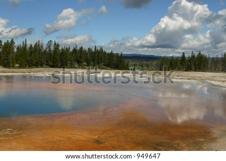 Mineral lake in Yellowstone