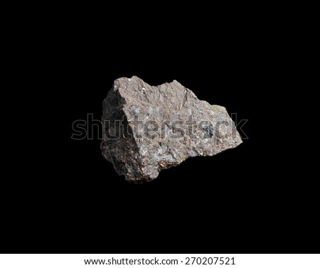 mineral Lignite  (brown coal) - stock photo