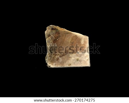 mineral Muscovite (muscovy glass) - stock photo