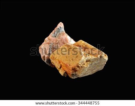 Mineral  Orthoclase (orthoclase feldspar) - stock photo