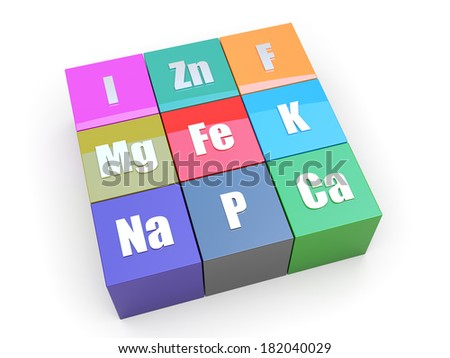 Mineral pack for healthy life - stock photo