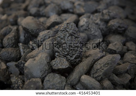 Mineral raw black - stock photo