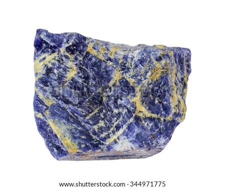 Mineral Sodalite on white background - stock photo