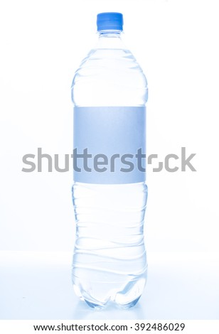 Mineral water bottle isolated on white background - stock photo