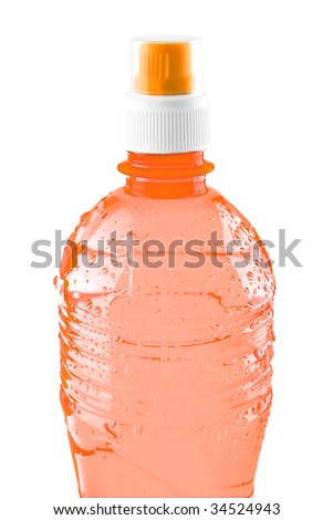 mineral water bottle isolated over white background