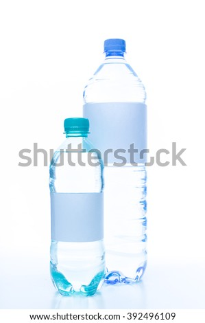 Mineral water bottles