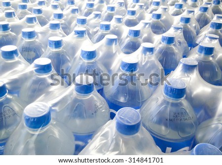 Mineral water bottles - plastic bottles