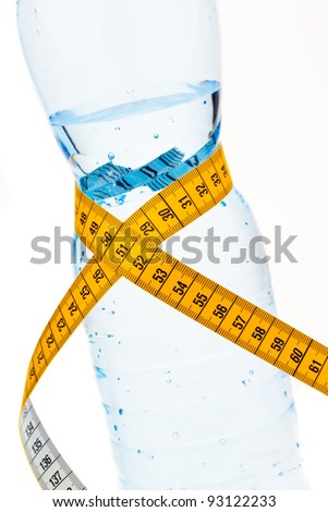 mineral water. symbol for diet and weight loss. - stock photo