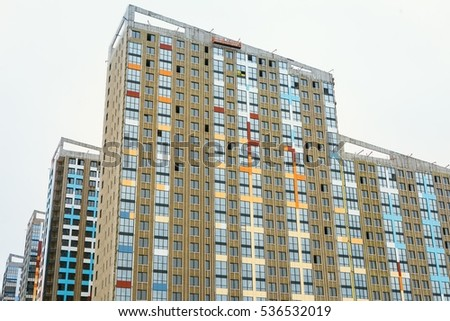 Mineral wool insulated facade