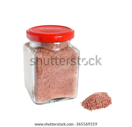mineralized cranberry powder isolated on white