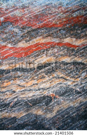minerals background  - vertical (wall of salt mine) - stock photo