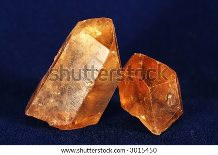 Minerals crystal - stock photo