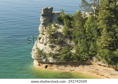 Miners' Castle at Pictured Rocks, Michigan - stock photo