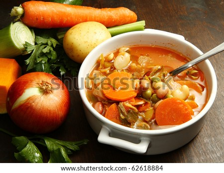 minestrone - stock photo